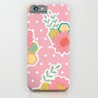 Hexagon floral 1 iPhone 6 Slim Case
