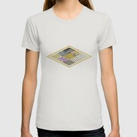 RHOMB SOUP / PATTERN SER… Womens Fitted Tee Silver SMALL