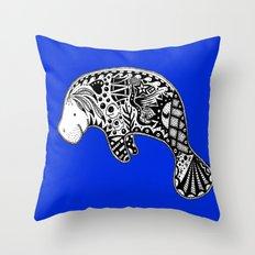 Manatee Throw Pillow