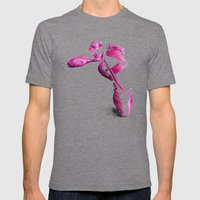 Ballet Shoe Pink Mens Fitted Tee Tri-Grey SMALL