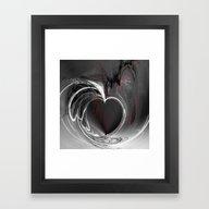 Heart Black Framed Art Print