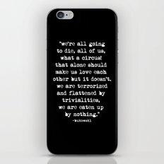 Charles Bukowski Typewri… iPhone & iPod Skin