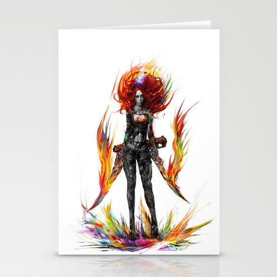 color attack Stationery Card
