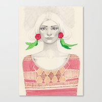 Two Red Flowers Canvas Print