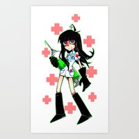 doctor Art Prints featuring Doctor by M-chi