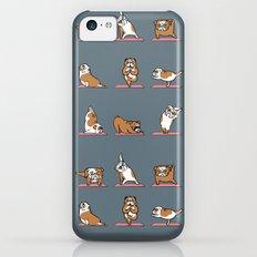 English Bulldog Yoga iPhone 5c Slim Case