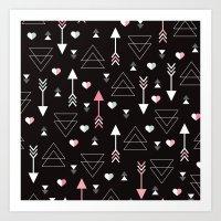 Geometric Black Arrow An… Art Print