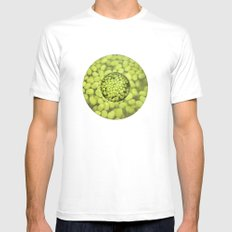 Green Beans Mens Fitted Tee SMALL White