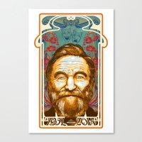Robin Williams Tribute Art Nouveau / Geek Poster / Fine Art Print Tribute by Tom Ryan's Studio Canvas Print