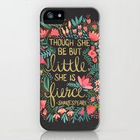 iPhone 5s & iPhone 5 Cases featuring Little & Fierce on Charcoal by Cat Coquillette