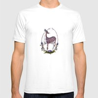 Fawn And Thistle Mens Fitted Tee White SMALL