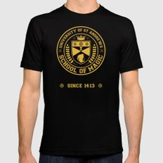 The Student Prince -  University of St Andrews School of Magic Black SMALL Mens Fitted Tee