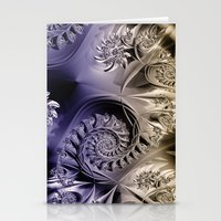Metallic Coils Stationery Cards