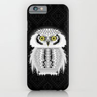 iPhone & iPod Case featuring Geometric Snowy Owl by chobopop