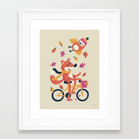 Autumn Ride Framed Art Print