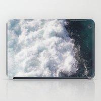 sea - midnight blue wave iPad Case
