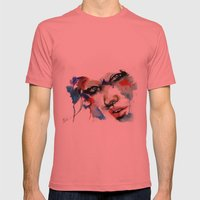 Aaralyn  Mens Fitted Tee Pomegranate SMALL
