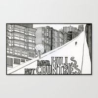 Bomb Hills Not Countries Canvas Print