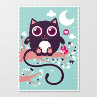 Sweet cat Canvas Print