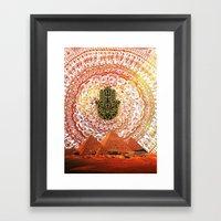 Hamsa Pyramids Framed Art Print
