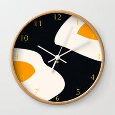 fried eggs Wall Clock