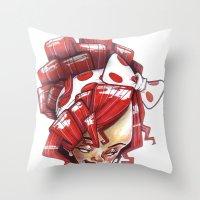 Ri-xaggeration  Throw Pillow