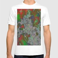 Green Nebula Mens Fitted Tee White SMALL