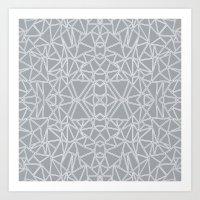 Ab Blocks Grey #3 Art Print