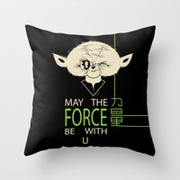 Starwars Yoda - May The Force Be With U Throw Pillow