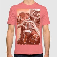 American Football Mens Fitted Tee Pomegranate SMALL