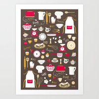 Teatime Treat Art Print