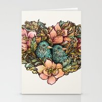 Bluebird Valentine Stationery Cards