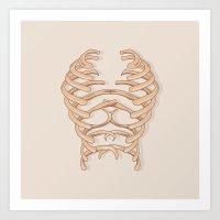 Skull Chest Art Print
