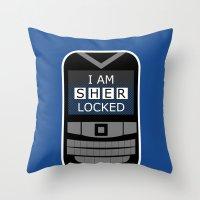 I Am Sherlocked - Sherlock Holmes Locked Phone Throw Pillow