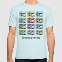 Gothenburg tramway Mens Fitted Tee Light Blue SMALL