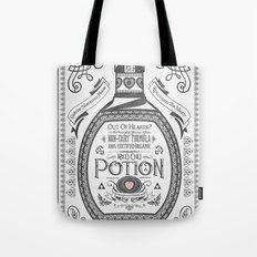 Legend of Zelda Red Potion Vintage Hyrule Line Work Letterpress Tote Bag