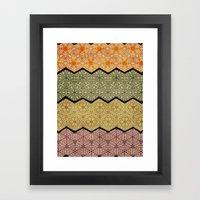 Pattern, Zig, Pattern, Z… Framed Art Print