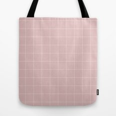 Pink and White Grid ///www.pencilmeinstationery.com Tote Bag