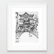 Spirited Away Bathhouse Framed Art Print
