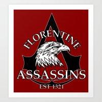 Florentine Assassins Art Print