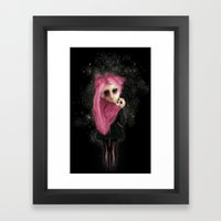 My dark being Framed Art Print