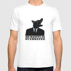 Humanity is overrated Mens Fitted Tee White SMALL