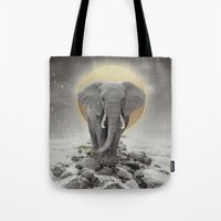 Strength & Courage (Stay Gold Elephant) Tote Bag