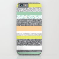 iPhone & iPod Case featuring Striped Patchwork by Eleanor V R Smith