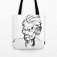 Old women Tote Bag