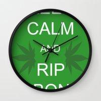 Keep Calm and Rip a Bong Wall Clock
