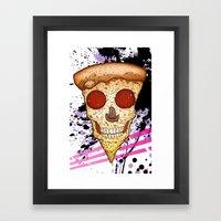 Skull Slice Framed Art Print