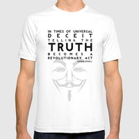 Truth Revolution Mens Fitted Tee White SMALL