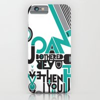 iPhone & iPod Case featuring If you can't be bothered to read this then you have no imagination. by Grant Pearce