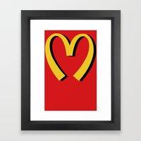 McDonald's MOSCHINO Framed Art Print
